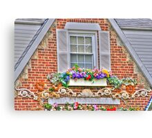 decorated window Canvas Print