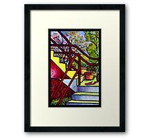 Stairway To Evan's Framed Print