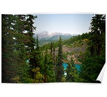 Garibaldi Lake View from the Top Hiking Trail Poster