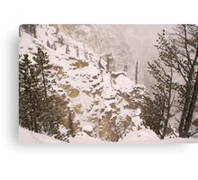 Yellowstone Canyon Snowstorm Canvas Print