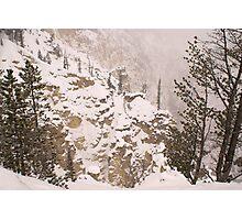 Yellowstone Canyon Snowstorm Photographic Print