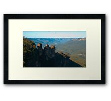 Three Sisters including Valley Background Framed Print