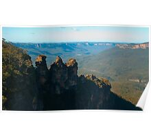 Three Sisters including Valley Background Poster