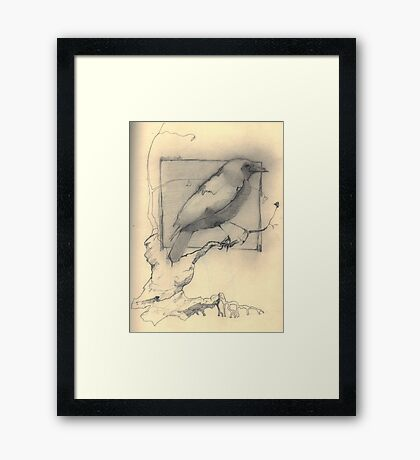 frail branches to hold heavy bodies Framed Print