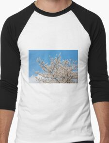 Cherry blossom in Korea Men's Baseball ¾ T-Shirt