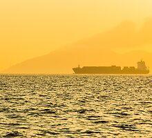Ship sailing in ocean by kawing921