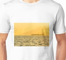 Ship sailing in ocean Unisex T-Shirt