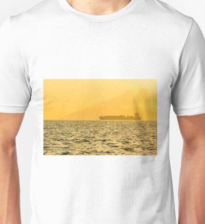 Ship sailing in ocean Unisex T-Shirt