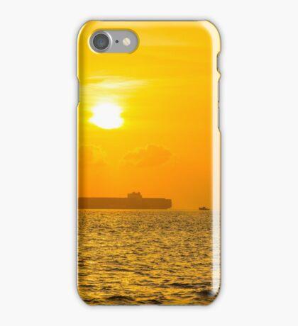 Ship sailing in ocean iPhone Case/Skin