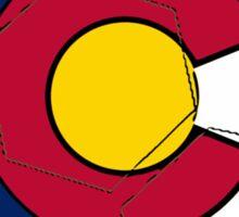 Colorado flag soccer ball Sticker