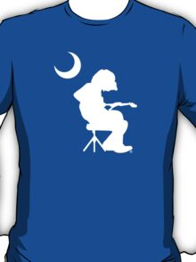 Seated guitar player under crescent moon, Mikey T-Shirt