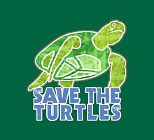 Save the Sea Turtles Womens Fitted T-Shirt