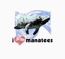I Love Manatees Womens Fitted T-Shirt