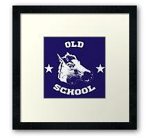 Old school horse Framed Print