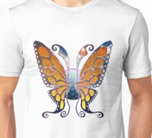 Galaxy Monarch Butterfly Wings Unisex T-Shirt