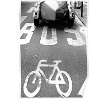 Paris - Bus lane. Poster