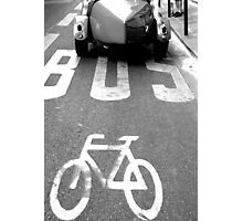 Paris - Bus lane. Photographic Print