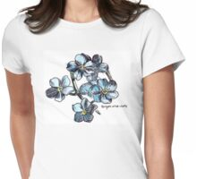 Forget-Me-Nots Womens Fitted T-Shirt