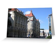Horn & Rupiewicz tenement house in Warsaw, Poland Greeting Card