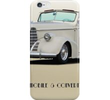 1938 Oldsmobile 8 Convertible Coupe 'Studio' with ID iPhone Case/Skin