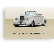 1938 Oldsmobile 8 Convertible Coupe 'Studio' with ID Metal Print