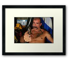 I'll f@king kill you! Framed Print