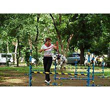 Quezon Memorial Circle activity: dog training 23 Photographic Print