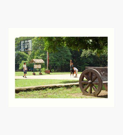 Quezon Memorial Circle activity: playing basketball 25 Art Print