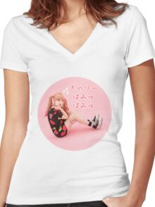 Kyary Pamyu Pamyu - Pink Sparkles Women's Fitted V-Neck T-Shirt