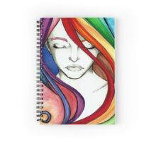 Coloured Hair Spiral Notebook