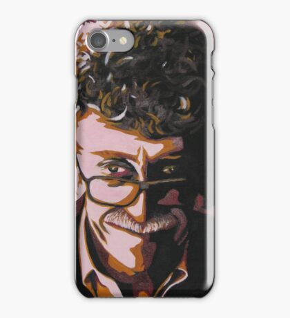 Kurt Vonnegut portrait iPhone Case/Skin