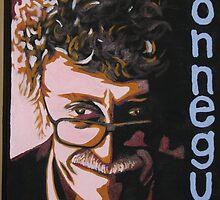 Kurt Vonnegut portrait by siochain