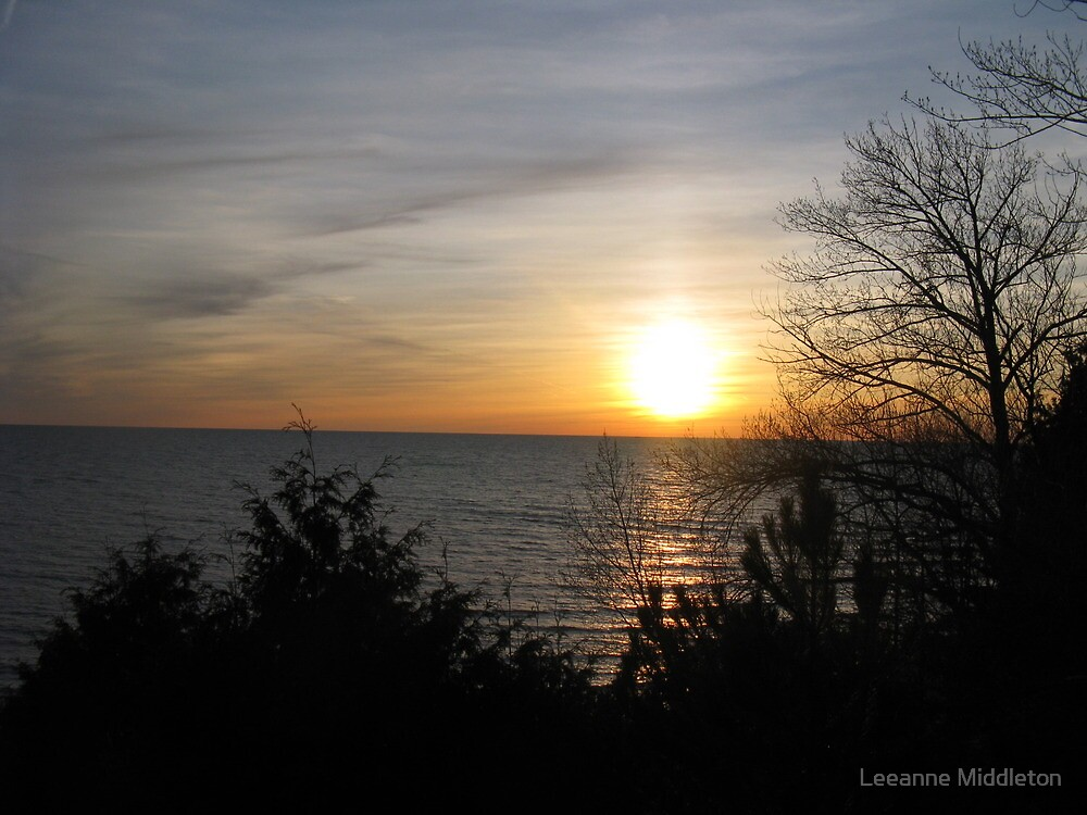 sunset silhouette by Leeanne Middleton