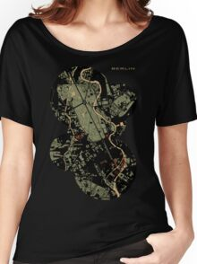Berlin city engraving map Women's Relaxed Fit T-Shirt