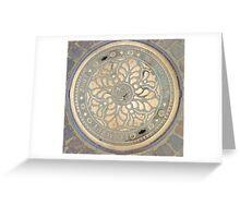 Manhole Cover Greeting Card