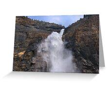 Big Water - Takakkaw Falls Greeting Card