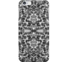 Aqua abstract bw  iPhone Case/Skin