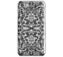 Aqua abstract bw  iPhone Case/Skin