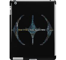 DS9 Text Art iPad Case/Skin
