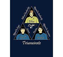 Star Trek Triumvirate - White Text for dark shirts Photographic Print