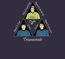 Star Trek Triumvirate - White Text for dark shirts T-Shirt