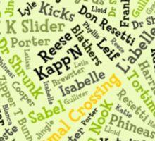 Animal Crossing Typography Sticker