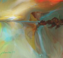 A Place in a Dream a Watercolour Abstract by Joan A Hamilton