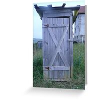 Outhouse Greeting Card