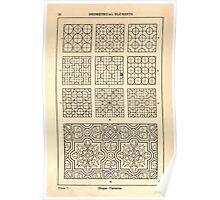 A Handbook Of Ornament With Three Hundred Plates Franz Sales Meyer 1896 0028 Geometrical Elements Diaper Patterns Poster