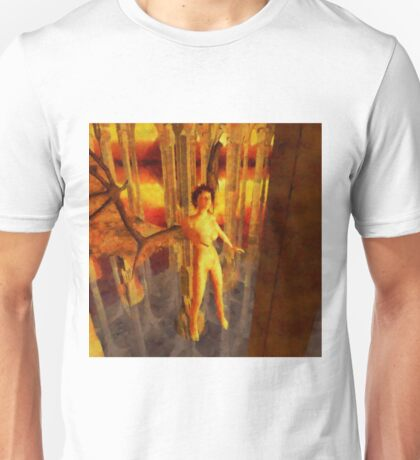 Winged Goddess in the Temple by Sarah Kirk Unisex T-Shirt