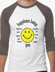Happiness Men's Baseball ¾ T-Shirt