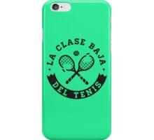 La Clase Baja Del Tenis (Black) iPhone Case/Skin