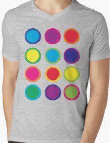 Colorful Circles Mens V-Neck T-Shirt