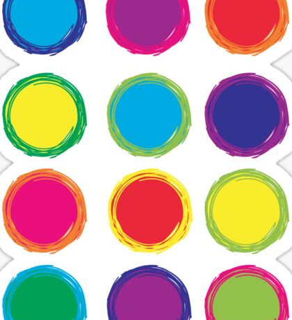 Colorful Circles Sticker